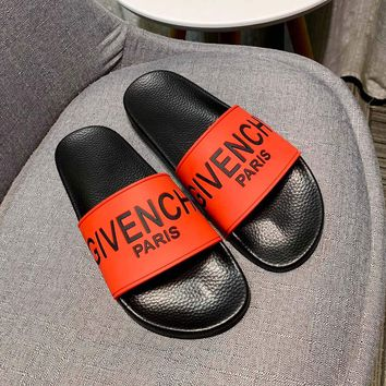 Red GIVENCHY Slippers Sandals