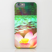 WATER LILIES - for iphone iPhone & iPod Case by Simone Morana Cyla