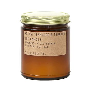 P.F. Candle Co. - No. 04: Teakwood & Tobacco Soy Candle