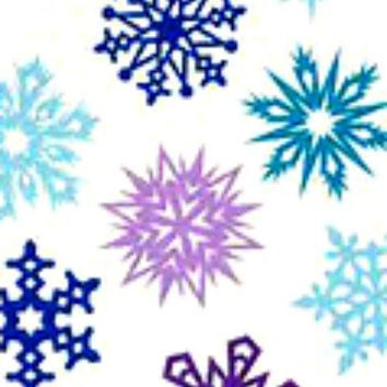 20 water slide DIY Manicure art Christmas purple blue snowflake full nail