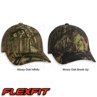 FLEXFIT Mossy Oak Camo Hat 6999 Fitted Realtree Bow Hunting Camouflage Cap NEW