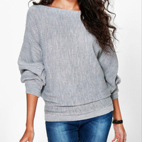 Women's Tunic Sweater -Loose / The bat sleeve Knitting sweater