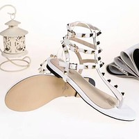 Valentino  Women Fashion Simple Casual  Sandals Shoes