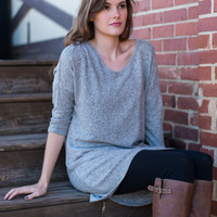 Nothing To Hide Tunic, Gray