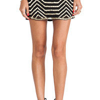 Raga Embellished Mini Skirt in Black