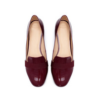 PATENT LEATHER SLIP-ON SHOES