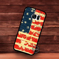 Letter USA Vintage American Flag - Samsung Galaxy S7 S6 S5 Note 7 Cases & Covers