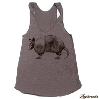 Womens ARMADILLO american apparel Tri-Blend Racerback Tank Top S M L (10 Color Options)