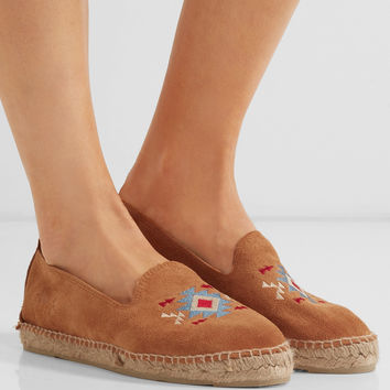Manebi - Navajo embroidered suede espadrilles