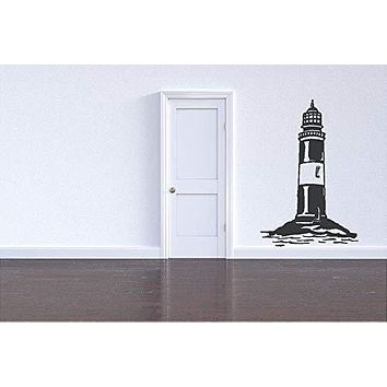 Light House Lake Ship Vinyl Wall Art Sticker Decal Graphic Home Decor
