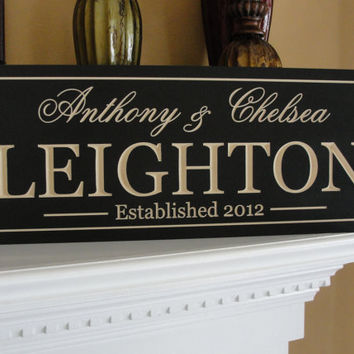 Personalized Family name signs last name sign by michaelswoodworks