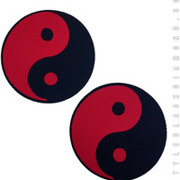 Yin Yang Pasties in Red