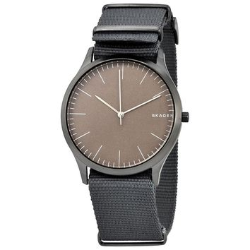 Skagen Jorn Grey Dial Mens Grey Nylon Watch SKW6366