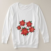 Lovely Poinsettia Plus Size Sweatshirt