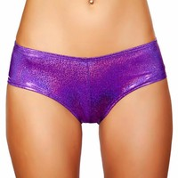 Purple Shimmer Booty Shorts