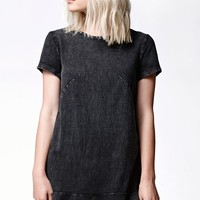 THE FIFTH Bright Young Thing T-Shirt Dress - Womens Dress - Black - Extra Small