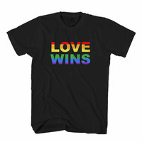 Love Wins Love Not Hate Marriage Equality Gay Pride Man's T-Shirt