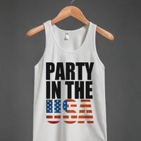 Party in the USA-Unisex White Tank
