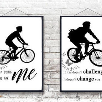 Biking Bike | Motivate to riding more bicycle | Sports | Outdoor sport | Inspiration Poster | Art Print | Printable Quote | Typography