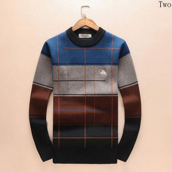 DCCKUN2 Burberry Women or Men Fashion Casual Embroidery Top Sweater Pullover
