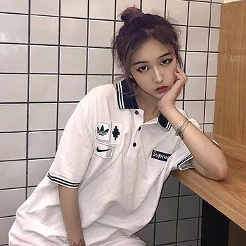 ADIDAS NIKE Supreme Fashion Polo Shirt Top Tee