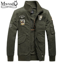brand men's autumn jacket men casual cotton military army jacket outerwear embroidery chaqueta jaqueta plus size M-4xl