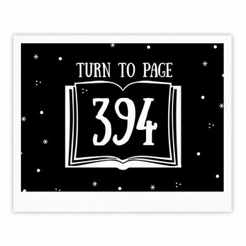 "Jackie Rose ""Turn To Page 394"" Black Pop Art Fine Art Gallery Print"