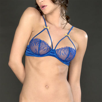 Maison Close: Villa Satine Bleu Frame Bra