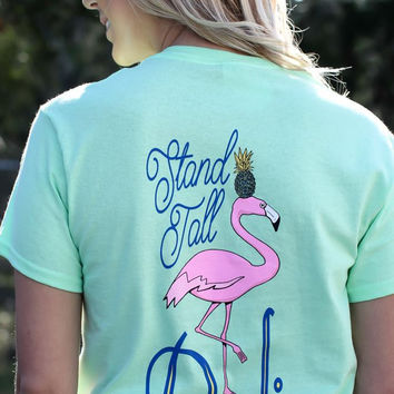 Southern Darlin Stand Tall Darling Flamingo Bright Girlie T-Shirt