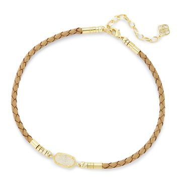 Cooper Tan Braided Leather Choker Necklace | Kendra Scott