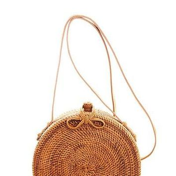 Hot Trendy Smooth Natural Straw Woven Bag