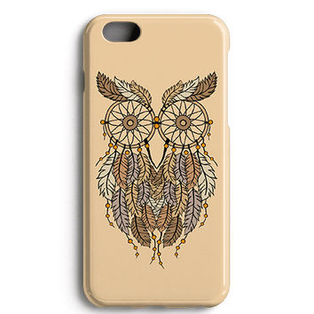 Dream Catcher Owl Tan Spiritual Phone Case