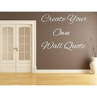 Letters For Walls Decal - Made to Order
