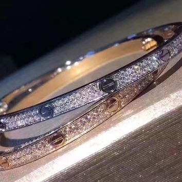 Cartier Love Bracelet Small Model Diamond Paved