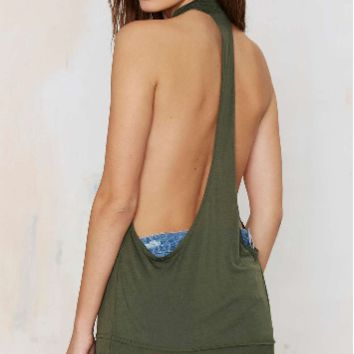 Green Long Top Tank