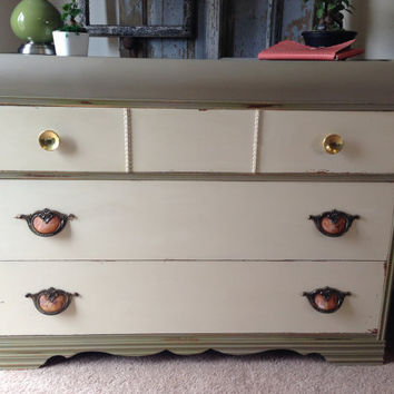 Vintage Art Deco Waterfall Dresser