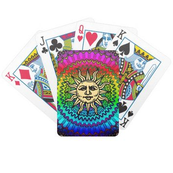 Sunny Bicycle Playing Cards