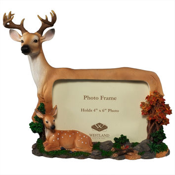 Buck And Fawn Picture Frame