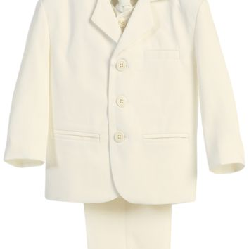 Ivory Single Breasted Dress Suit 5 Piece (Boys 6 months - size 14)