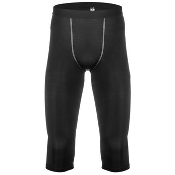 "MEN'S 3/4"" BLACK TIGHTS"