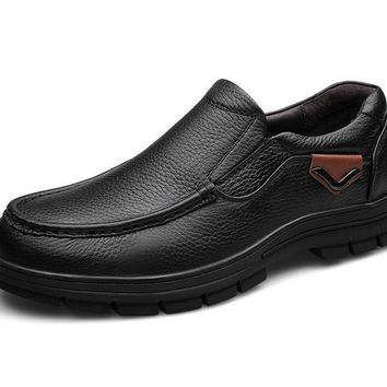 Genuine Leather Slip On Business Oxford Shoes