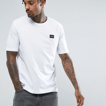 Love Moschino T-Shirt In White With Badge at asos.com