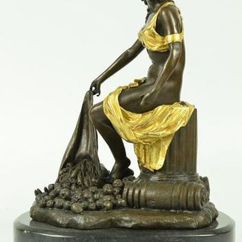 Fantastic Bronze Sculpture Classical Statue on Marble Base