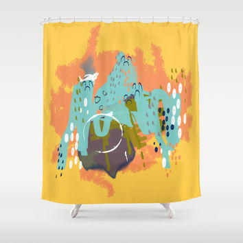 navy border art best coral and mint shower curtain products on wanelo