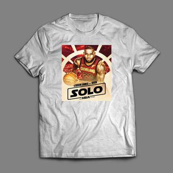 "LEBRON JAMES ""SOLO AN NBA STORY"" CUSTOM STAR WARS PARODY ART T-SHIRT"