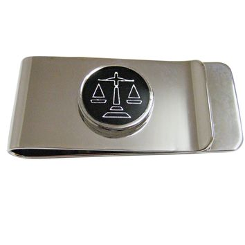 Black Scale of Justice Law Money Clip