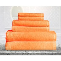 Bamboo Fiber 6pc Towel Set Orange