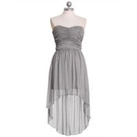 regal nights asymmetrical chiffon dress - $54.99 : ShopRuche.com, Vintage Inspired Clothing, Affordable Clothes, Eco friendly Fashion