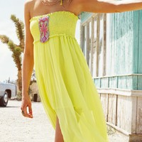 Watercult 2015 Festival Ethno Yellow High Low Dress 3086-059-424