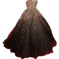 Strapless chocolate brown embroidered Marchesa ballgown [not for sale]